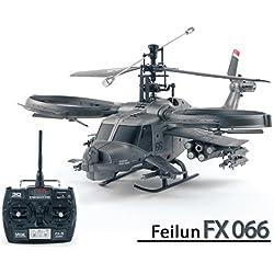 efaso fx066–Feilun 4de canal Single Blade 2.4GHz helicóptero en Avatar Militar Scale aspecto