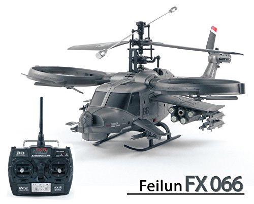 efaso FX066 - Feilun 4-Kanal Single Blade 2.4 GHz Helikopter in Avatar Militär Scale Optik
