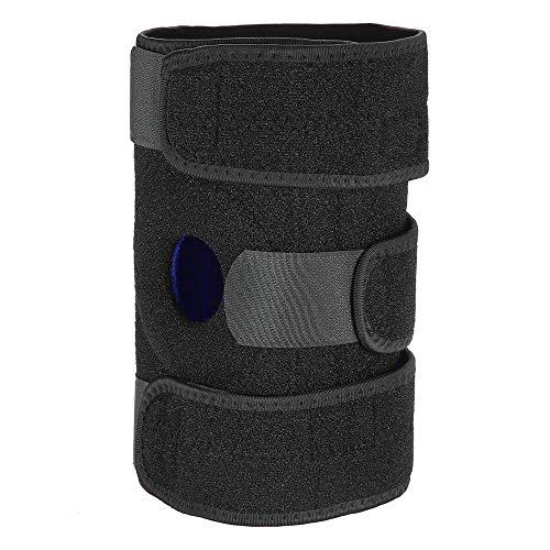 Yanchad Outdoor-Sportschutzausrüstung Kniebandage Atmungsaktiver Knieschützer Einstellbare Kniebandage Gurt Offene Patella Wrap für Workout Fitness Sport (Size : 1)