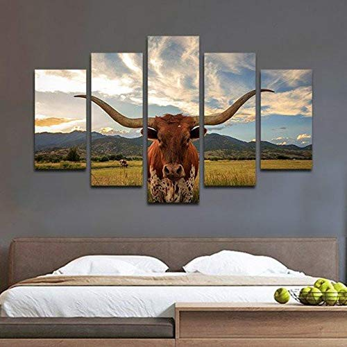 5 Stück HD Gedruckt Leinwanddrucke Yak Multi Panel Leinwand Wandkunst Bilder Leinwand Bilder Poster -
