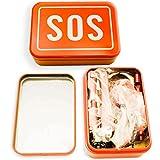 OUTDOOR SAXX® - SOS Survival Notfall Tool Box | Taschen-Lampe Werkzeug Messer Kompass Säge Pfeife Schraubenschlüssel Öffner Fire Stick | 7-Teilig - 3