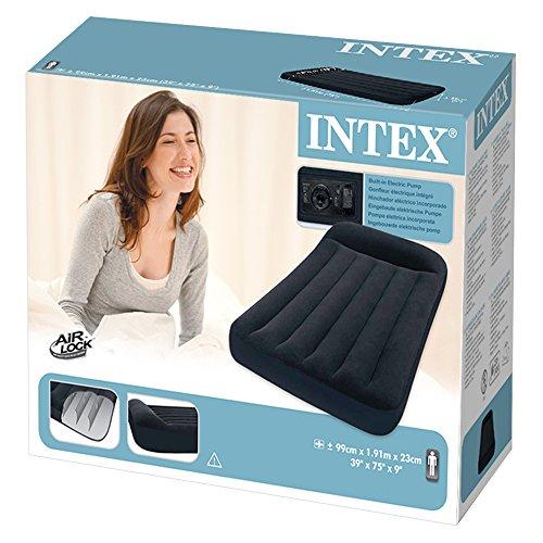 """Intex 12-66779 Luftbett Pillow Rest Classic """"Blue"""" 230 V Twin inklusiv integrierter elektrischer Luftpumpe, 99 x 191 x 23 cm - 4"""