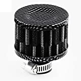Lecimo 7x7x7cm Aria Oil Crank Case Breather Filter Moto Quad Car Auto Round Calore #3