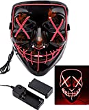 Foneso LED Maske mit 3 Blitzmodi für Halloween Fasching Karneval Party Kostüm Cosplay Dekoration...