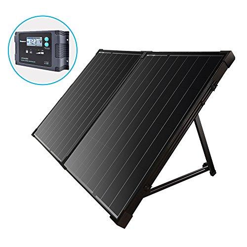 Renogy 100W 12V mono Solarkoffer wasserdicht 20A Solarregler LCD für Wohnmobil Camper Boot - Solar Koffer