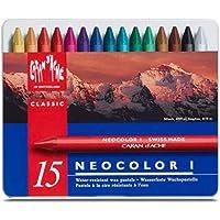 Caran D\'ache Neocolor I - Juego de ceras de color (15 unidades, caja metálica)