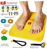 Acupressure Power Mat with Magnets n Pyramids for Pain Relief and Total Health Useful for Heel Pain - Knee Pain - Leg Pain - Sciatica - Cramps - Migraine - Tonsils - Depression With Acupressure Health Care Products (PREMIUM) BY ESCOR Byzantine International Private Limited -- 'Super INDIA Store'