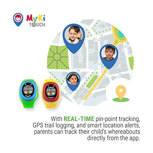 MyKi GPS Uhr Kinder, Smartwatch mit GPS Tracker, Handy Ortung, SOS und App Tracking in Deutsch (Blau) - 3
