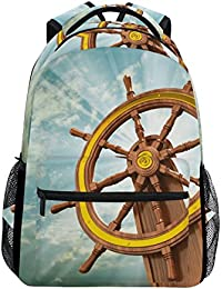 Preisvergleich für COOSUN Die Schiffs-Rad zufällige Rucksack Schultasche Reise Daypack Mehrfarbig