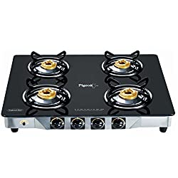 Pigeon Black Line Square 4 Burner SS Gas Stove