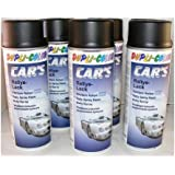 Dupli Color 385872  - Pintura para coches (6 botes, spray, 400 ml), color negro mate