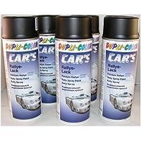 Dupli Color 385872 - Pintura para coches (6 botes, spray, 400 ml), color negro mate