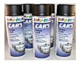 Dupli Color 385872 Car´s Rallye-Lack schwarz matt 6 Spraydosen á 400 ml