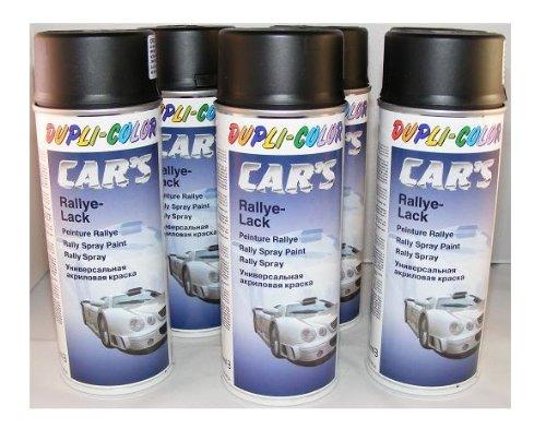 felgen lackspray Dupli Color 385872 Car´s Rallye-Lack schwarz matt 6 Spraydosen á 400 ml