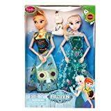 Haya Enterprises Fashion Doll Frozen Sister Anna & Elsa With Olaf