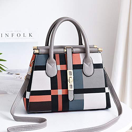Rucksack Tasche Elegante Mode Große Kapazität Trend Damen Handtasche Umhängetasche Großen Charme Persönlichkeit College Wind Große Kapazität Leistungsstarke Grau