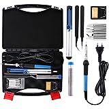 Housolution Soldador Electrónica de Estaño - 60W 220V Kit de Soldador Eléctrico con Plancha de Soldadura