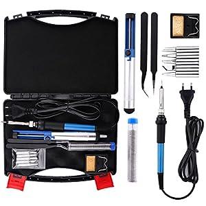 Housolution Soldador Electrónica de Estaño – 60W 220V Kit de Soldador