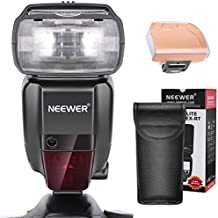 Neewer 2.4G HSS 1/8000s TTL GN60 Inalambrico Flash Speedlite Master/Slave de Canon 7D Mark II, 5D Mark II III IV, 1300D, 1200D, 750D, 700D, 600D, 80D y otras cámaras DSLR de Canon con filtro de Color (NW600EX-RT)