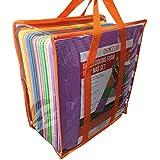 Juego de alfombras de goma EVA suave con bolsa de transporte, de Dryzem. Alfombras encastrables para juego de niños.