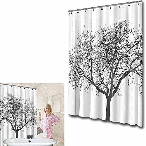 Shower Curtain with Tree Design 100% Waterproof & Eco-Friendly Large Size – 180 cm X 180 cm