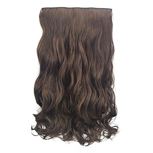In Hair Extensions Ombre Haar Haarverlängerungen Stück Lockige Hübsche Frau Mädchen Perücke Haarwelle Rolle Perrücke Perücken Wig Haare Wigs(C) ()