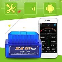 Mini ELM327V2.1OBD2OBDII Bluetooth Adaptador auto Scanner Torque Android