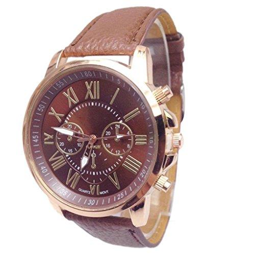 winwintom 2016Mujeres Elegante Reloj Correa de piel sintética color marrón