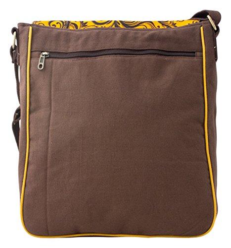 Sunsa Messengertasche, Borsa a tracolla donna beige Größe circa (BxHxT): 29x36x9 cm marrone