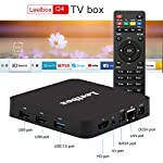 [Android TV Box 9.0] Leelbox Q4 Smart TV Box 4GB RAM/32GB ROM mit WLAN 2.4GHz/BT 4.0/3D/1000 LAN/HD/H.265/4K Media Player, Android TV Box mit 2.4G WiFi