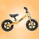 MAZHONGK Inderfahrräder Fahrrad für Alter 1,5 bis 5 Jahre - Bester Sport Fahrrad-Jungen u. Mädchen - Kinder überspringt Dreiräder auf Dem hellsten Ersten Fahrrad in Vielen Größen (Farbe : Orange)