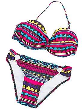 PRIDE S Costume da bagno bikini a due pezzi da bagno ( Colore : Multicolore , dimensioni : M )