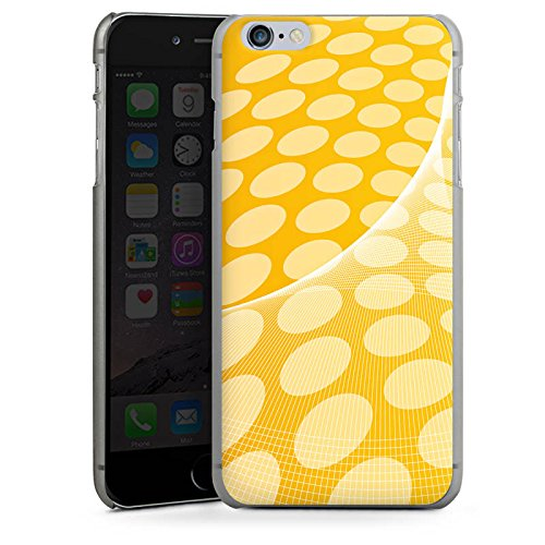 Apple iPhone X Silikon Hülle Case Schutzhülle Muster Punkte Orange Hard Case anthrazit-klar