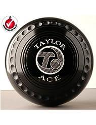 Taylor Ace Pro Grip - Bolas de bowls negro negro Talla:Heavy Size 5