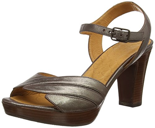 Chie MiharaJantra - Sandali donna , Beige (Beige (Ante Metal Taupe)), 39 1/3