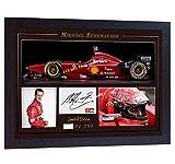 SGH SERVICES encadrée Michael Schumacher Champion du Monde Mercedes autographe Formule 1Photo dédicacée encadrée MDF Cadre Photo Pre-Print # 8