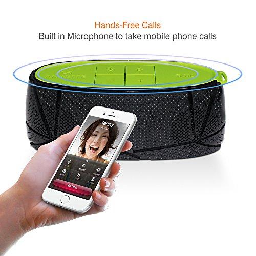 Amkette Trubeats Sonix 835BG Hi-Fidelity Bluetooth Portable Speaker (Black/Green)