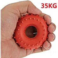 mark8shop nuevo 35kg Grip de goma Mano Pinza Fuerza de dispositivo Rojo