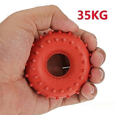 mark8shop nuevo 35 kg Grip de goma Mano Pinza Fuerza de dispositivo Rojo