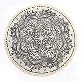 SHACOS Mandala Indien Tapis Rond en Coton de Style Boho,Tapis Rond avec des...