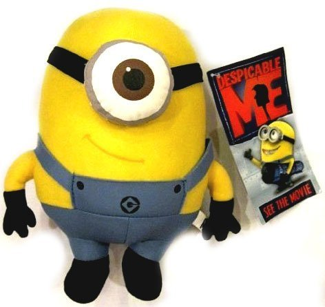 Despicable Me Deluxe 8-Inch Plush Figure Minion Stewart by Toy Factory