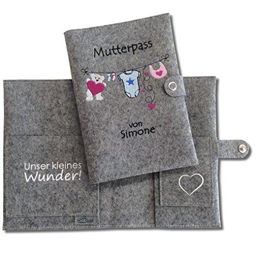 Personalisierte Wunder Mutterpasshülle mit Druckknopf