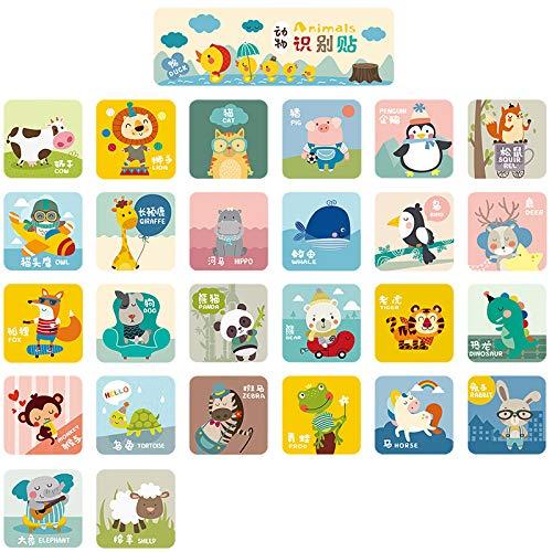 Cartoon-Tierbaby-Frühe Bildungs-Puzzlespiel-Anerkennungs-Aufkleber