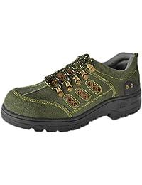 Escursioni Scarpe da Uomo Impermeabili Alla Caviglia Leggera Outdoor Anti-Skid Low-Top Walking Shoes Sport Scarpe da Uomo Casual,Green-43