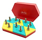 #9: Skola Toys Mosaic Nuts & Bolts - Twist, Turn, Create Patterns