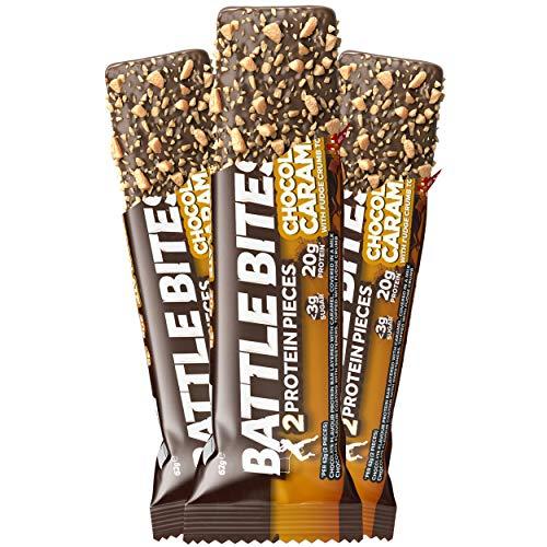 reiche Riegel mit hohem Protein-, niedrigem Kohlen- und Zuckergehalt, 12 x 62 g Riegel (2 x 31 g Stück pro Riegel) (Schokoladen-Karamell) ()