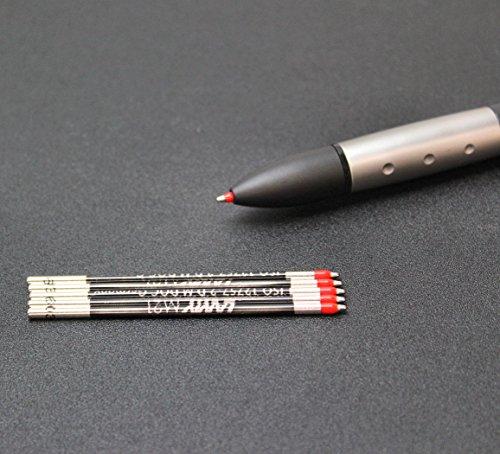 Kugelschreibermine M 21, Mine rot, für Vierfarbkugelschreiber, Stahlspitze