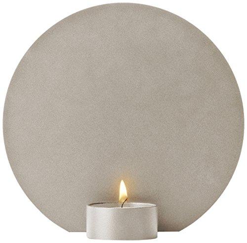 Menu 4749039 Teelichthalter, Metall, Sandfarben, 3 x 15 x 15 cm