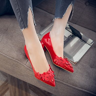 Talloni delle donne Primavera Estate Autunno Inverno Dress Altro PU Party & Sera casuale tacco grosso Fiore Nero Rosso Beige Beige