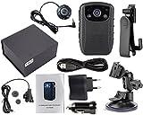 Angin-Tech Infrarot Nachtsicht HD 1080P Polizei Körperkamera Getragene Videokamera Sicherheit IR Nocken Errichtet in GPS Unterstützung Bewegungs-Abfragung + 16GB TF Karte (16GB TF Karte Errichtet) KIT 2